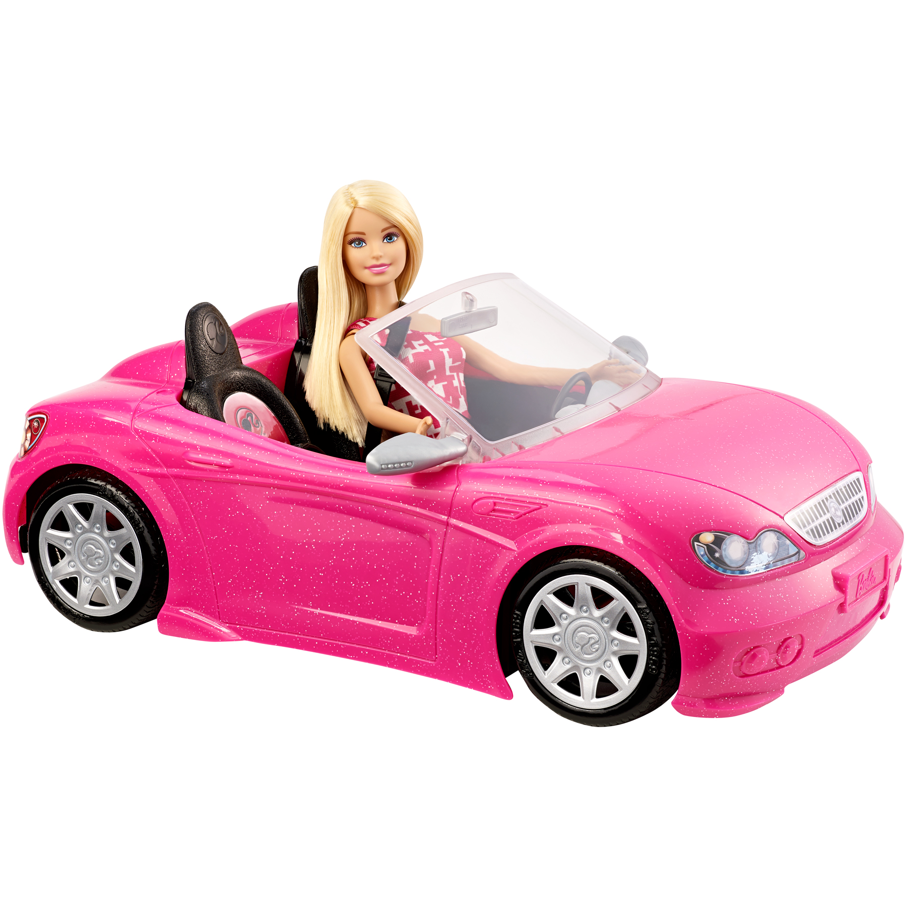 BARBIE GLAM CONVERTIBLE SPORTS CAR DOLL TOY SET 2 SEATER
