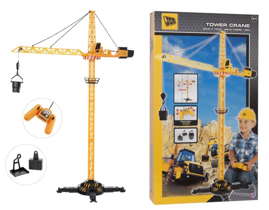 Jcb Remote Control Tower Crane Amazing Kids Fun Gift Rc