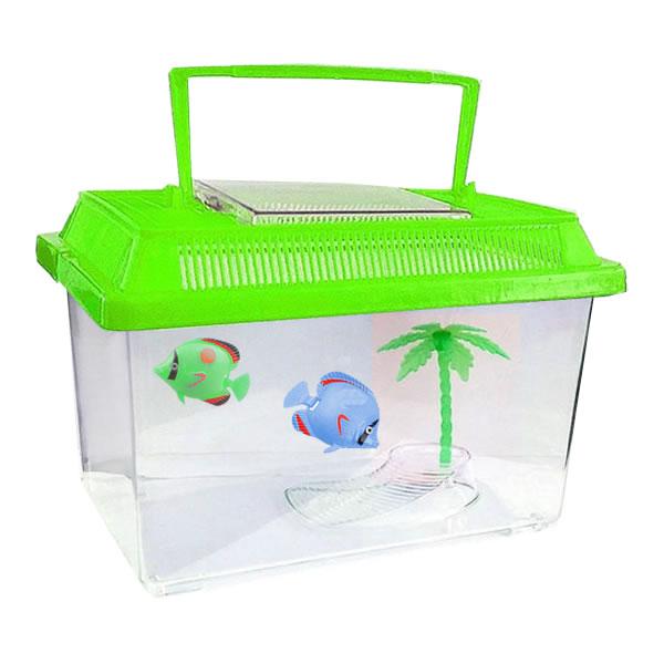 5pce Green Plastic Aquarium Starter Insect Fish Tank Bowl