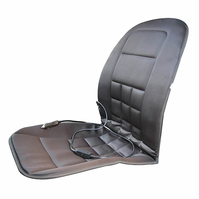 12V UNIVERSAL HEATED FOAM PADDED FRONT CAR SEAT CUSHION