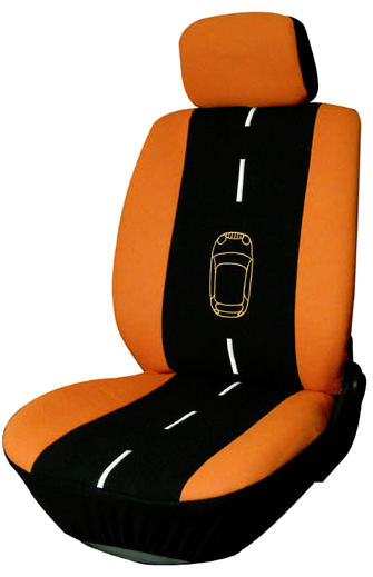 6 pce front seat covers orange and black ebay. Black Bedroom Furniture Sets. Home Design Ideas