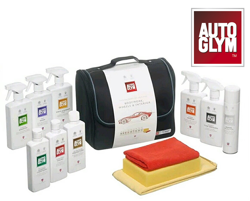 autoglym perfect bodywork wheels interior collection valeting kit car care gift ebay. Black Bedroom Furniture Sets. Home Design Ideas