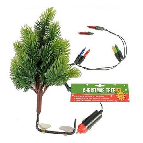 Automatic Christmas Tree: 12V CAR VAN DASHBOARD CHRISTMAS TREE WITH 5 LIGHTS