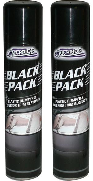 2 x black car plastic bumper exterior trim restorer ebay