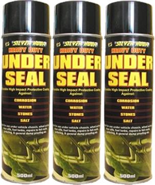 3 X 500ml Underseal Aerosol Underguard Spray Paint Under