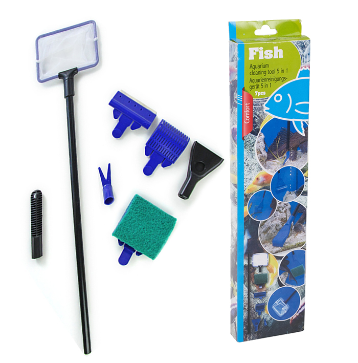 5 in 1 aquarium fish tank cleaner cleaning tool set kit for Fish tank cleaning kit