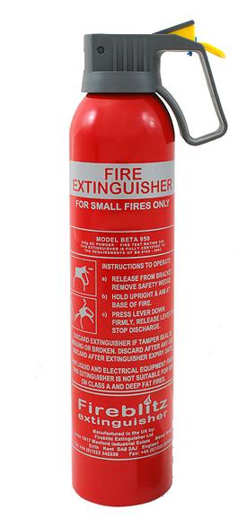 Fire Powder Can : G bc powder fire extinguisher car home caravan van