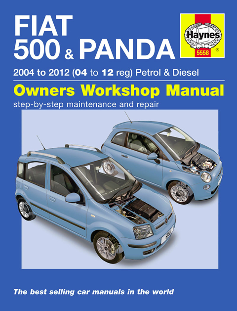haynes workshop repair owner manual fiat 500 panda 04. Black Bedroom Furniture Sets. Home Design Ideas