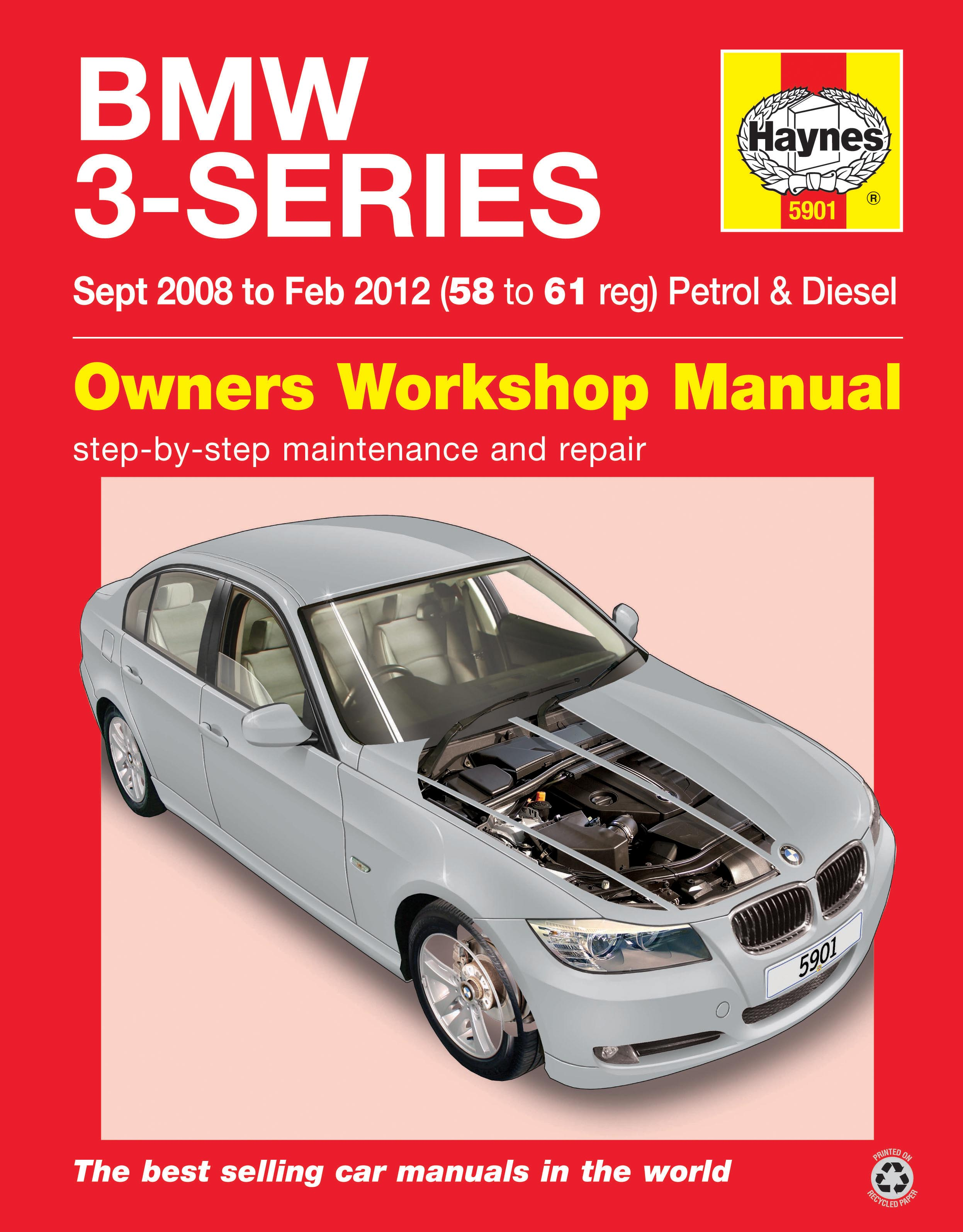 haynes 5901 owners workshop bmw 3 series 08 12 58 61. Black Bedroom Furniture Sets. Home Design Ideas