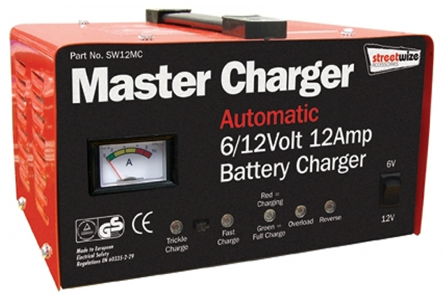 automatic intelligent battery charger 6 12 volt 12 amp. Black Bedroom Furniture Sets. Home Design Ideas