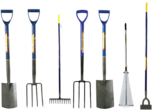 Border digging garden spade shovel fork dutch hoe for Tools for backyard gardening