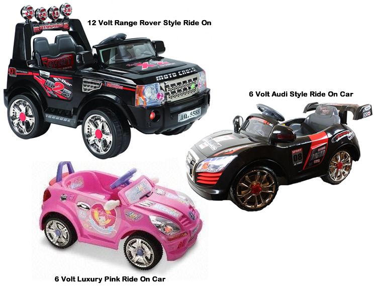 Kids 6v 12v Battery Powered Open Top Style Electric Ride