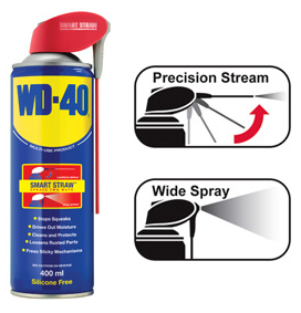 wd 40 400ml multi purpose maintenance spray smart straw lubricant oil diy car. Black Bedroom Furniture Sets. Home Design Ideas