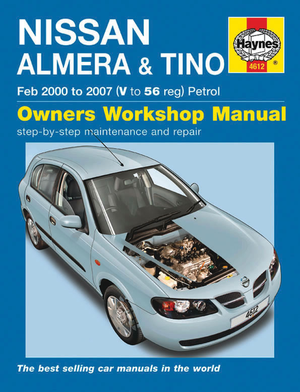 haynes workshop car repair manual nissan almera tino. Black Bedroom Furniture Sets. Home Design Ideas