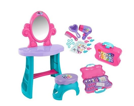 30pc My Little Pony Toy Vanity Table Nail Care Case Pinkie