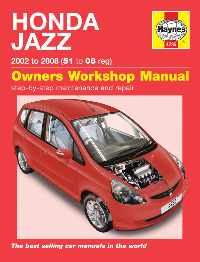 Haynes 4735 Workshop Repair Manual Honda Jazz 02