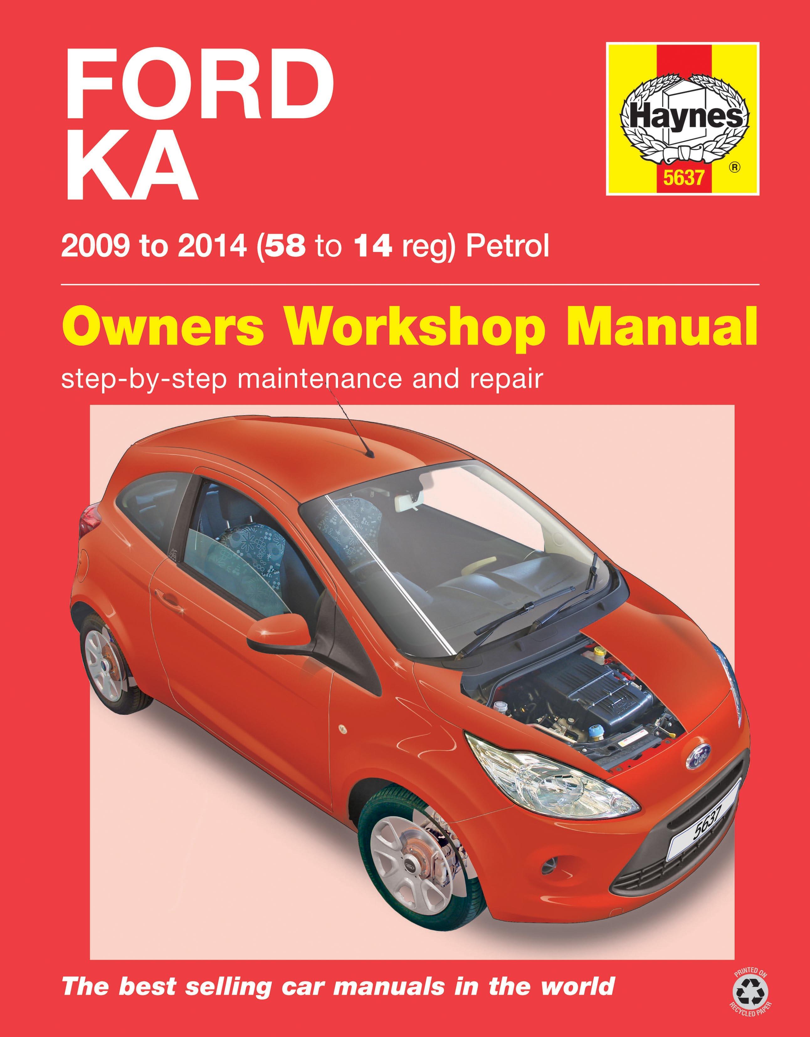 haynes workshop repair manual ford ka petrol