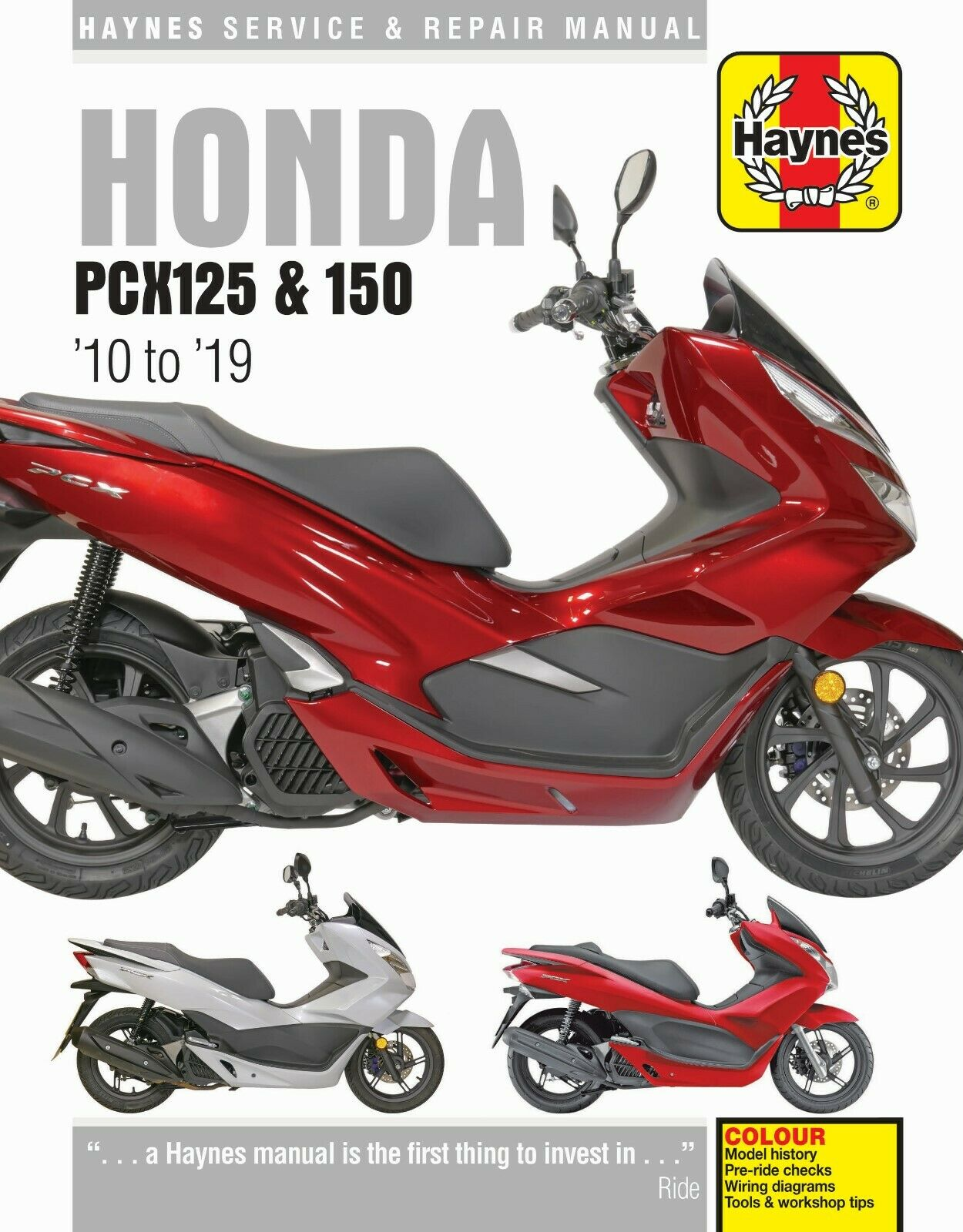 Details about HAYNES 6447 HONDA PCX125 & 150 2010 TO 2019 MOTORBIKE on
