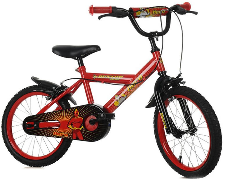 Kids Childrens Bike 12 Quot Red Dunlop Hero Bicycle Cycle