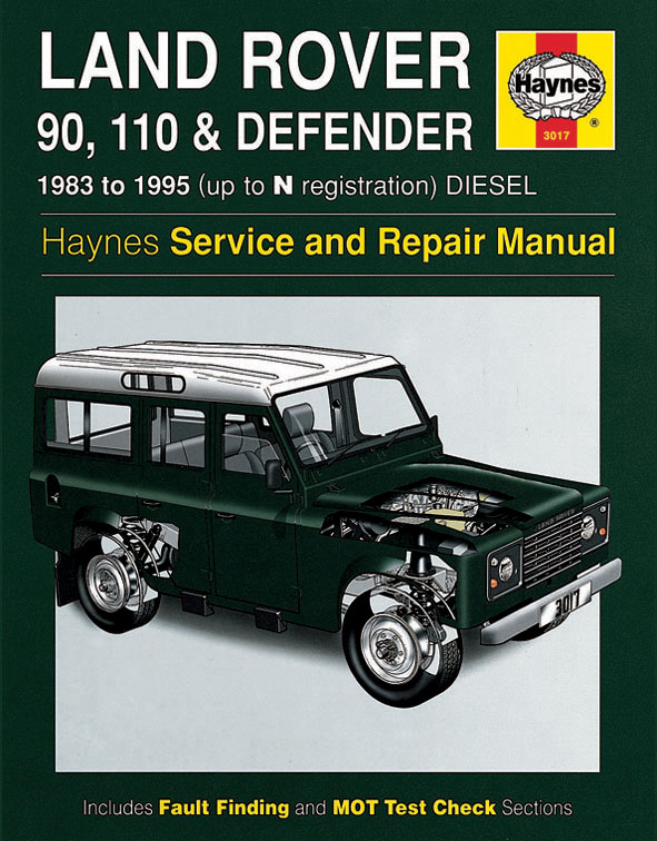Land Rover Defender workshop repair manual
